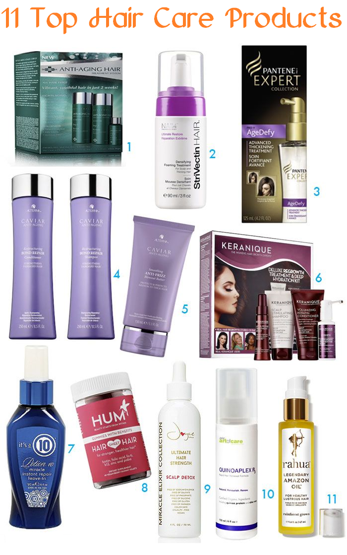 11 top hair care products
