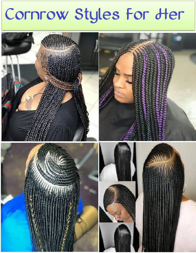 cornrow styles for her
