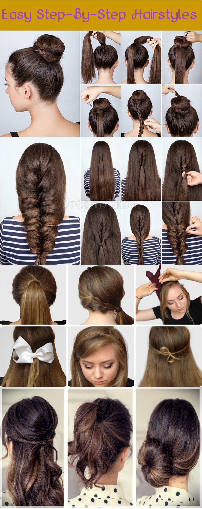 easy-step-by-step hairstyles