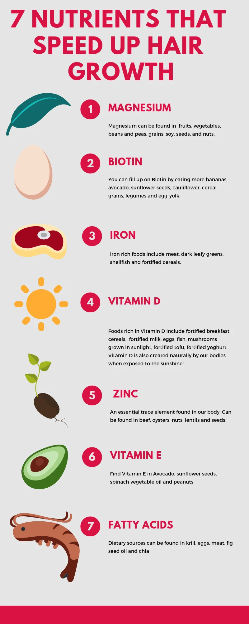 7 nutrients that speed up hair growth