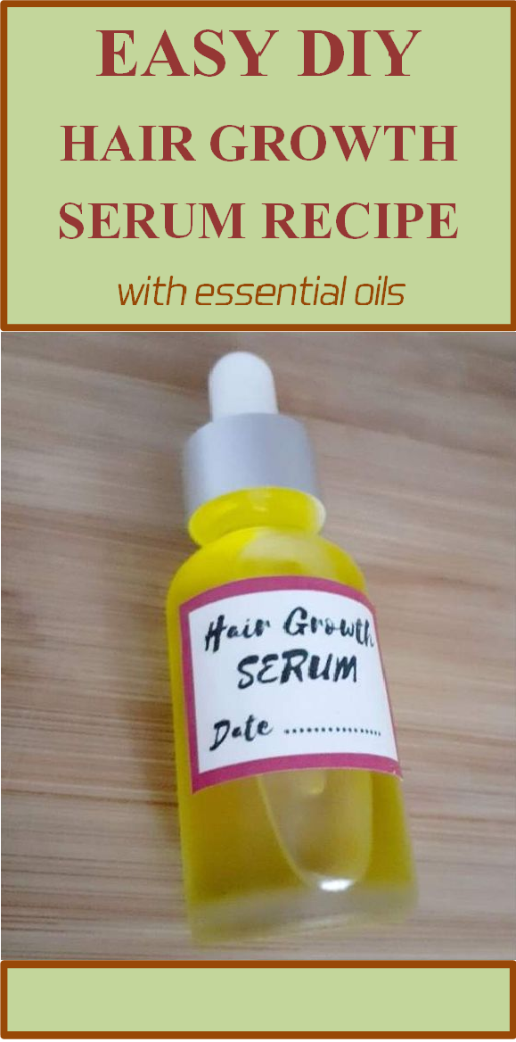 easy diy hair growth serum