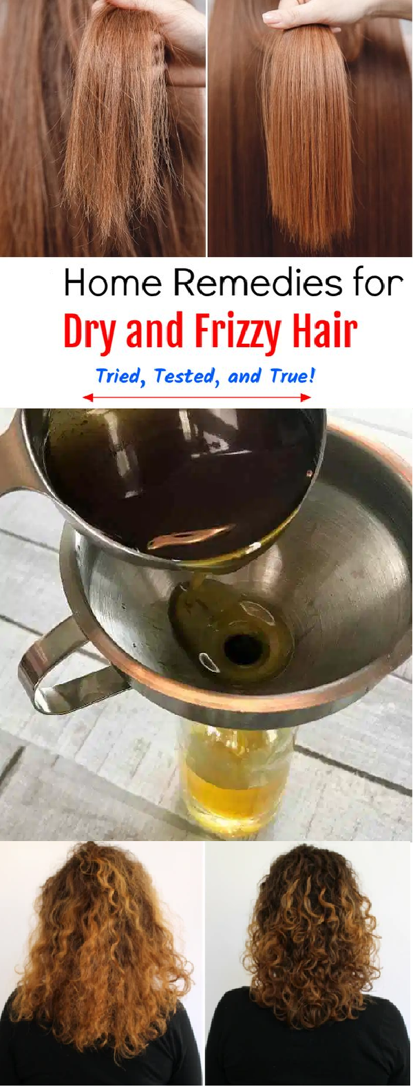 home remedy for dry and frizzy hair