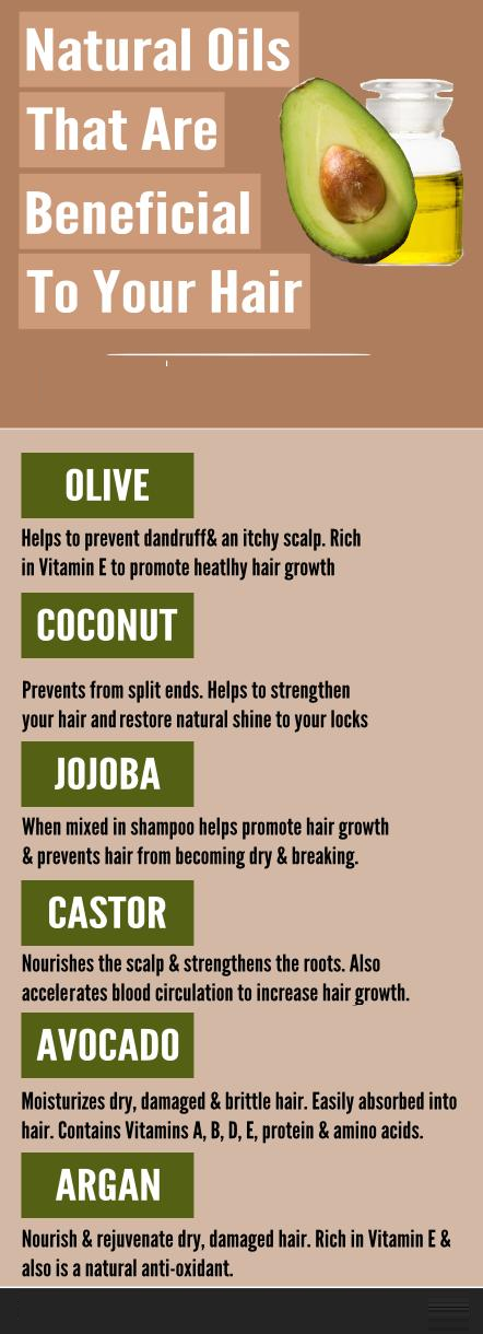natural oils that are beneficial to your hair