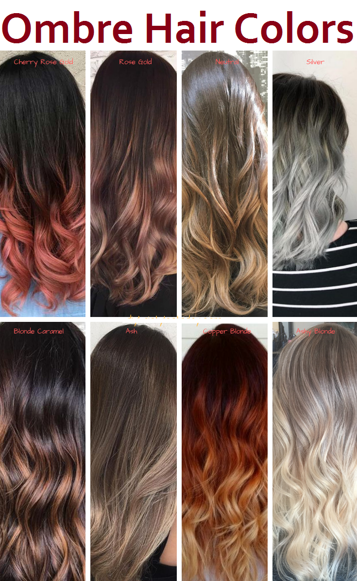 ombre hair colors