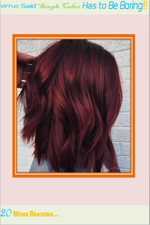 single color hair dye