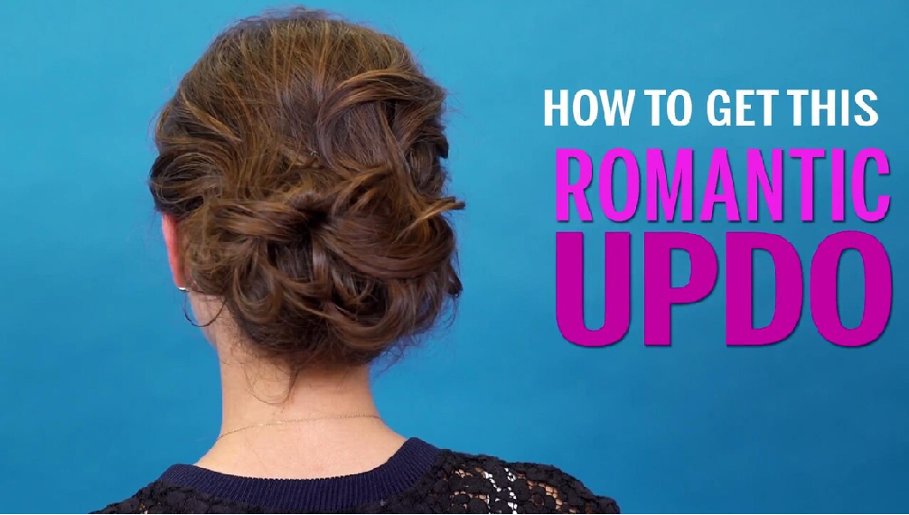 how to get this romantic updo