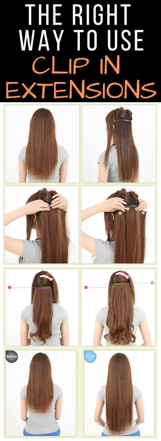 the right way to use clip in hair extensions