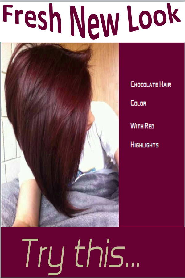 chocolate with red highlights