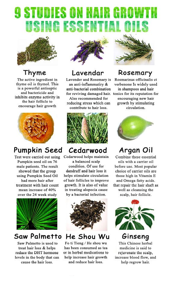 hair growth using essential oils