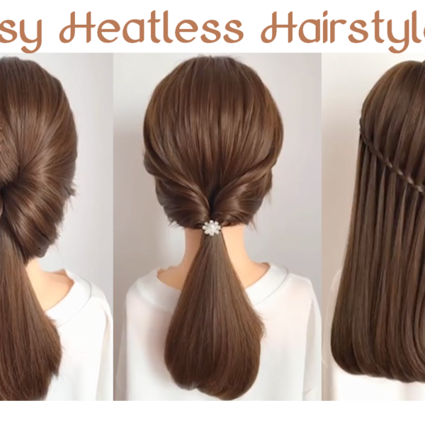 easy heatless hairstyle