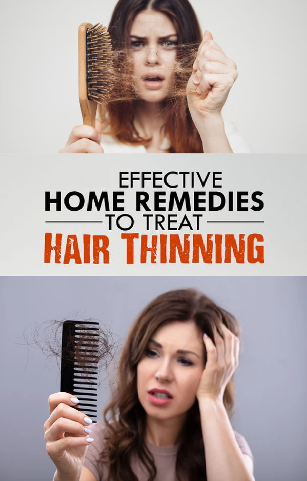 effective home remedies to treat hair thinning