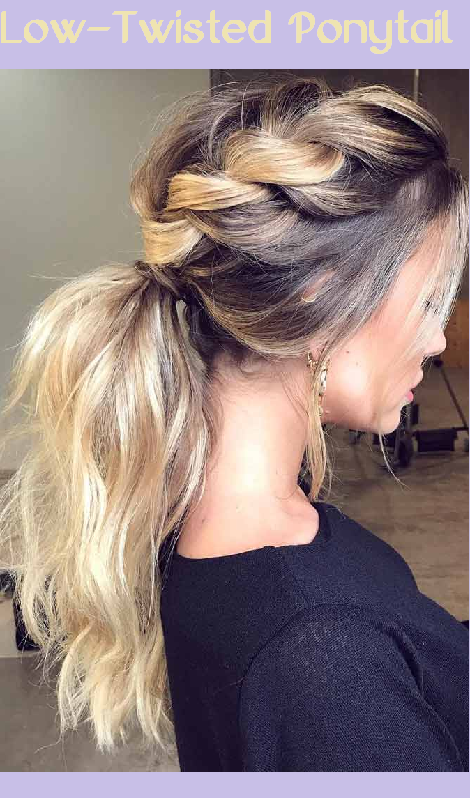 low-twisted ponytail