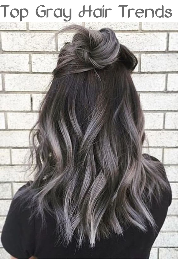 top gray hair trends