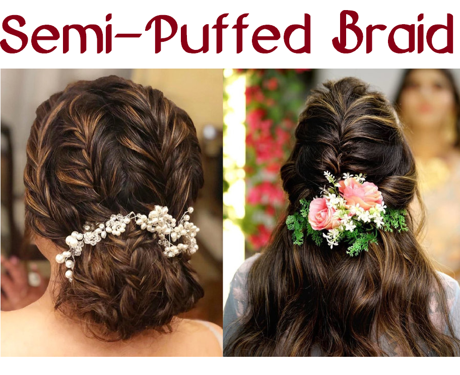 semi-puffed braid