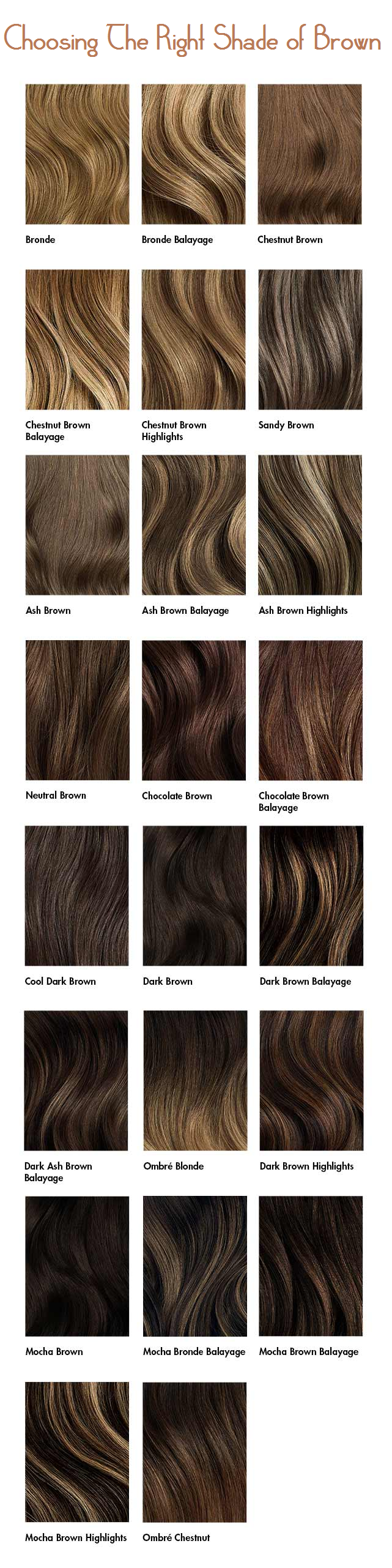 choosing the right shade of brown
