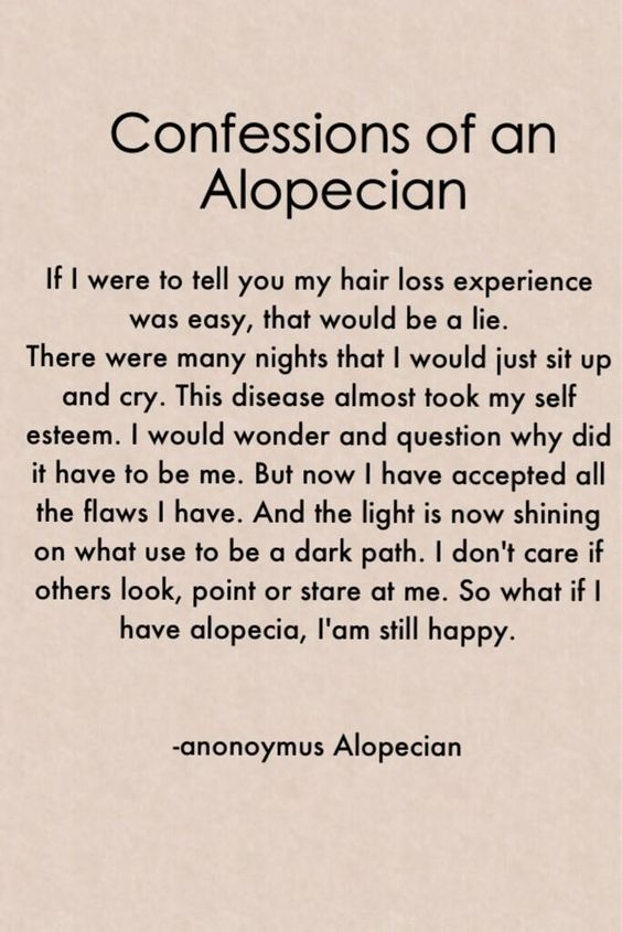 confessions of an alopecian