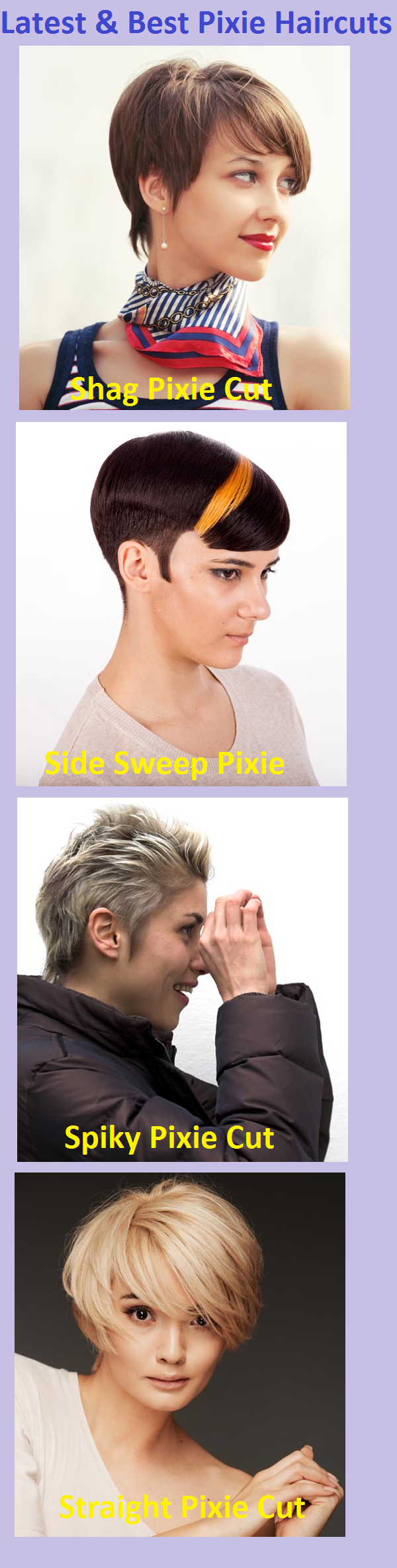 latest & best pixie haircuts