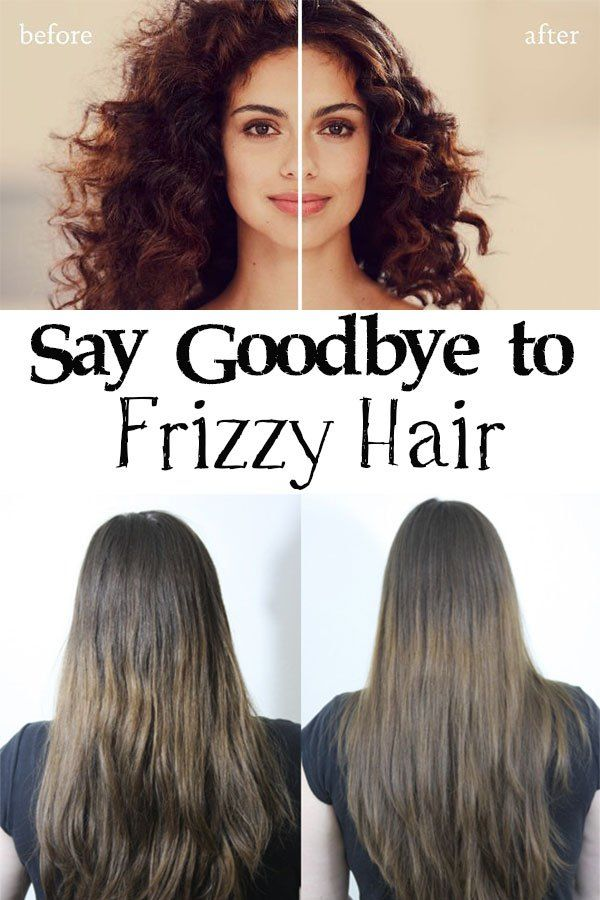 say goodbye to frizzy hair
