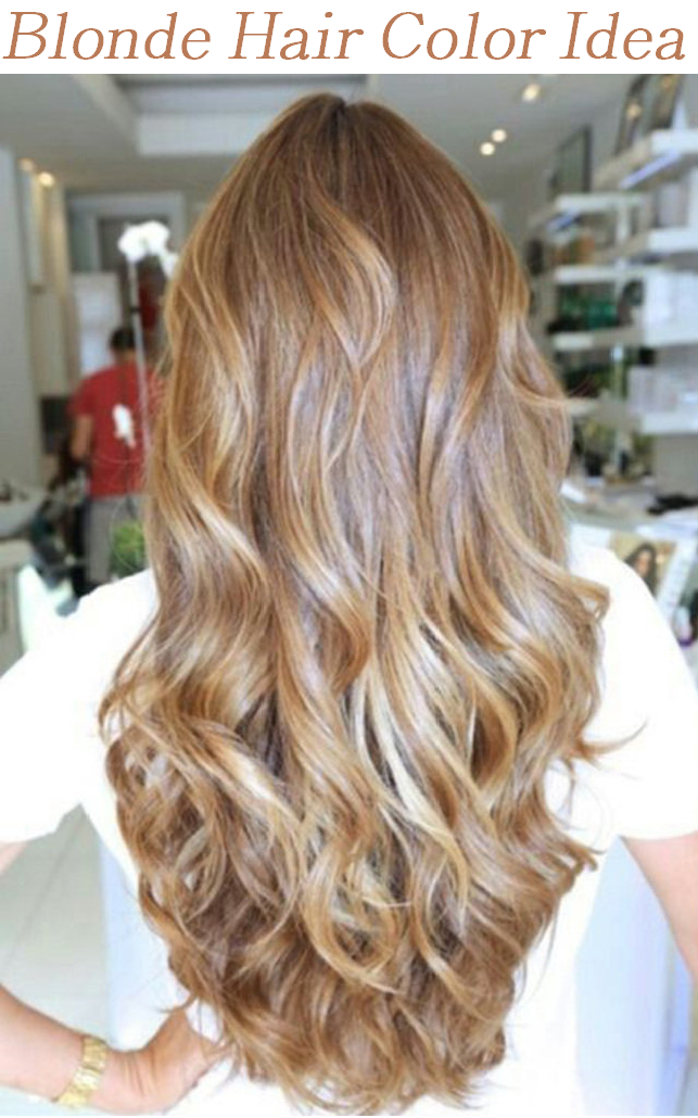 blonde hair color idea