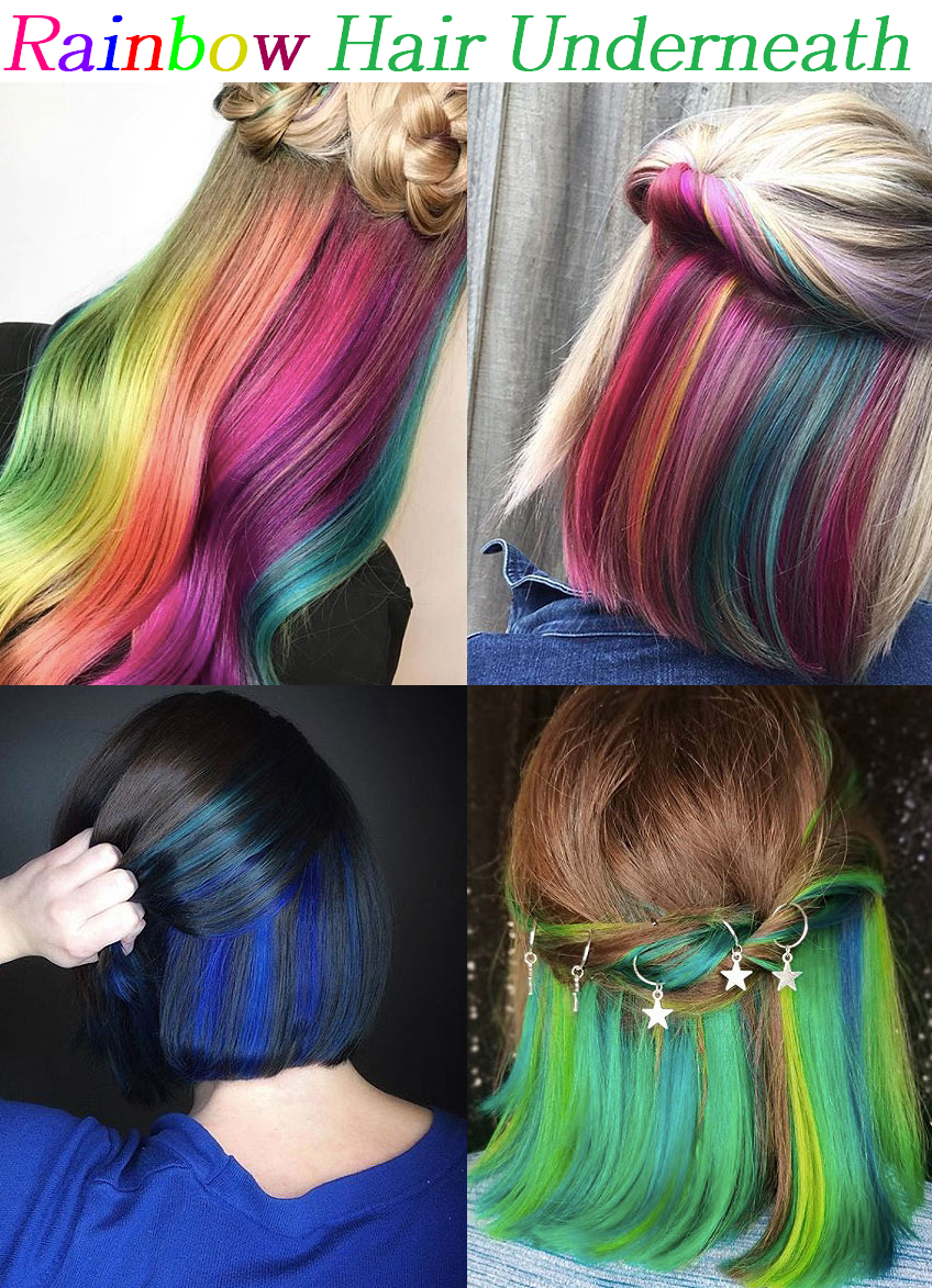 rainbow color underneath