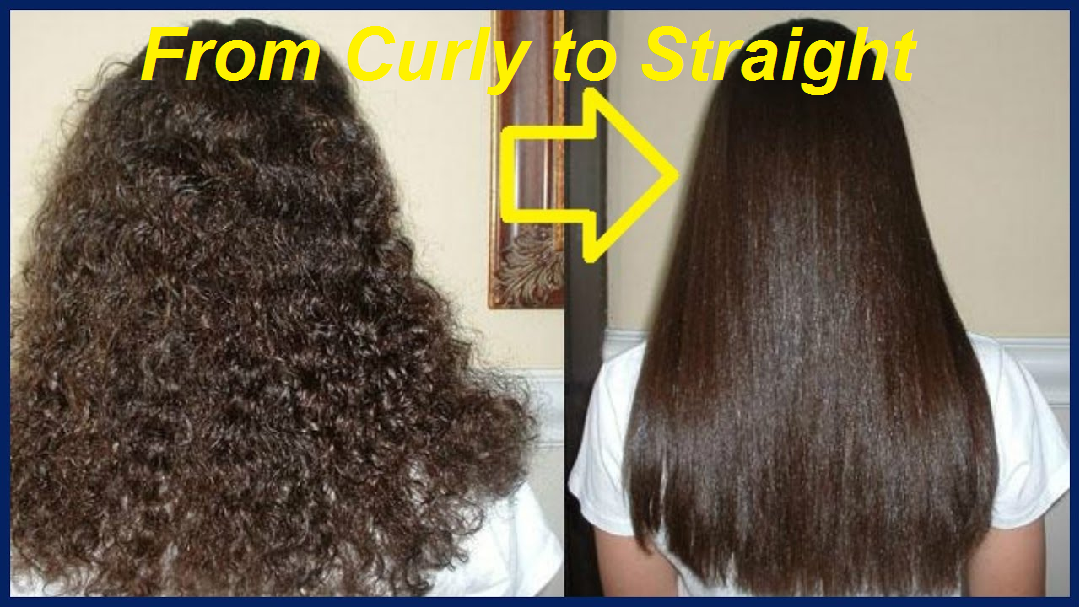 from curly to straight