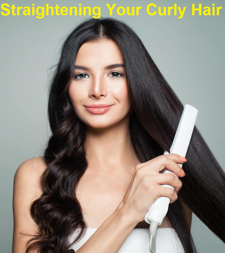 straightening your curly hair
