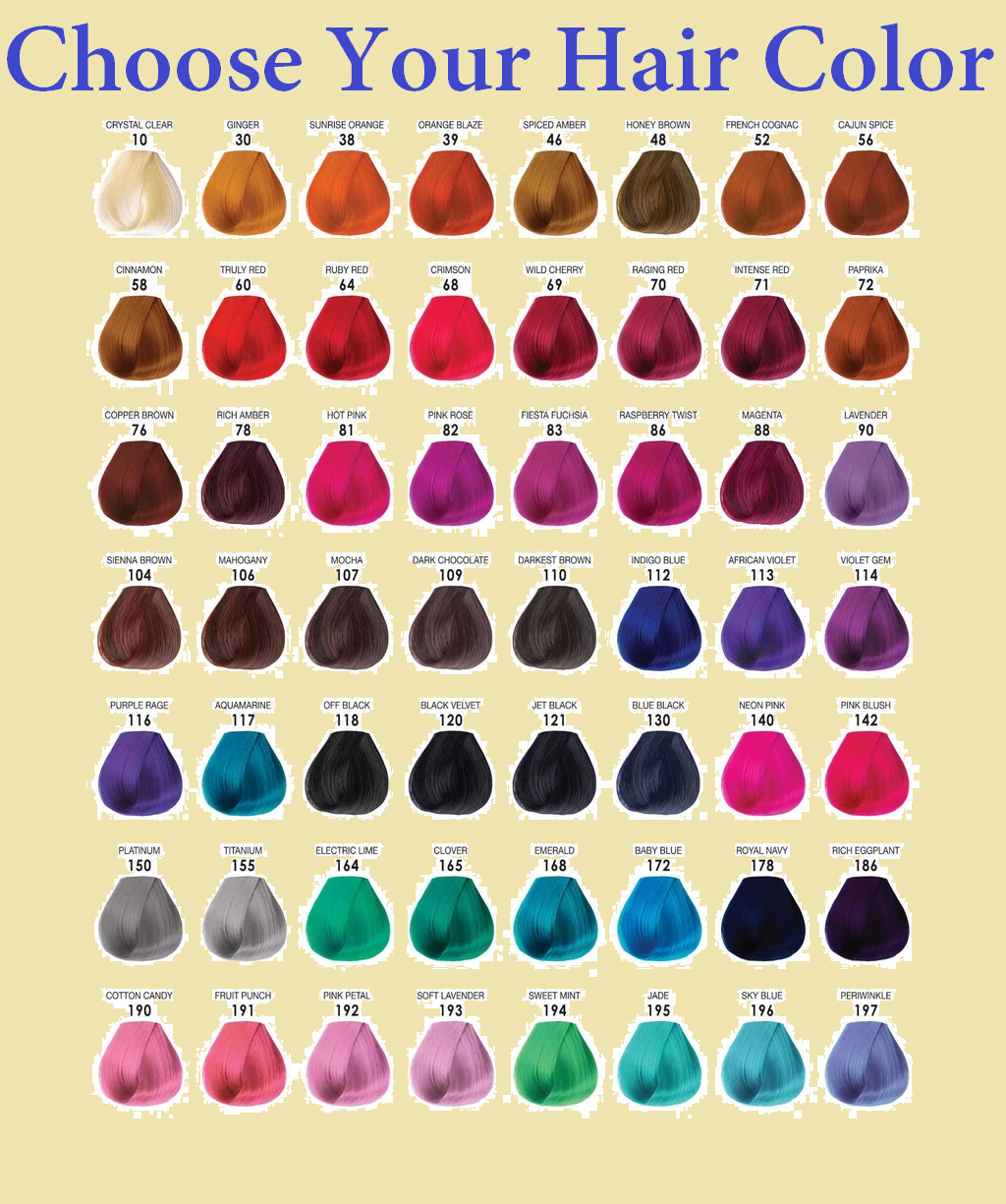 choose your hair color